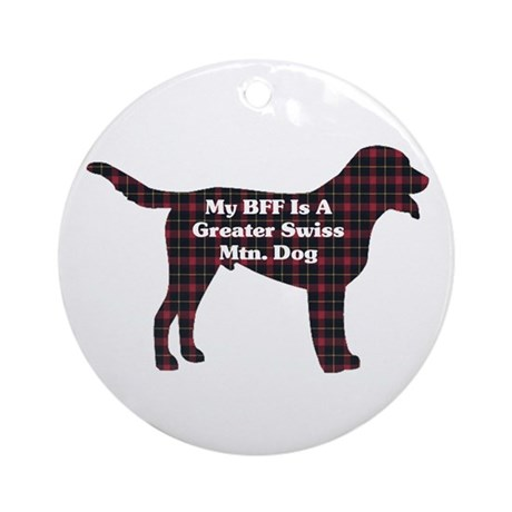 Greater Swiss Mountain Dog Ornament (Round)