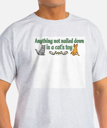 Two cats and funny quote Ash Grey T-Shirt