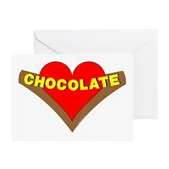 Chocolate Heart Greeting Card