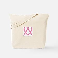 Pink Ribbon Heart Tote Bag