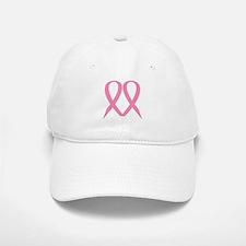Pink Ribbon Heart Baseball Baseball Cap