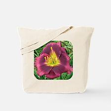 Midnight Dynamite Daylily Tote Bag
