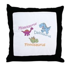 Mom, Dad & Finnosaurus Throw Pillow