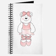 PINK BALLERINA BEAR Journal