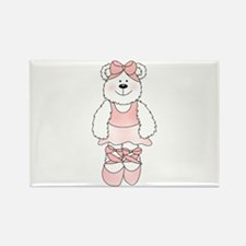 PINK BALLERINA BEAR Rectangle Magnet