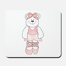 PINK BALLERINA BEAR Mousepad