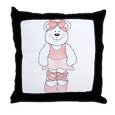 PINK BALLERINA BEAR Throw Pillow