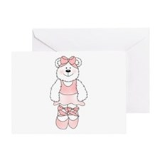 PINK BALLERINA BEAR Greeting Card