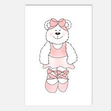 PINK BALLERINA BEAR Postcards (Package of 8)