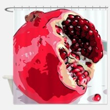 Pomegranate Fruit Digital Painting Shower Curtain