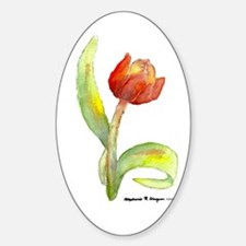 Spring Tulip Oval Decal