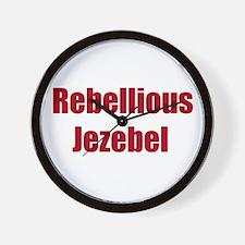 Cute Rebellious Wall Clock
