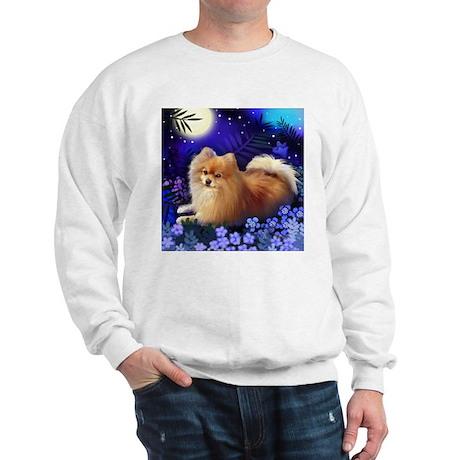 POMERANIAN DOG MOON GARDEN Sweatshirt
