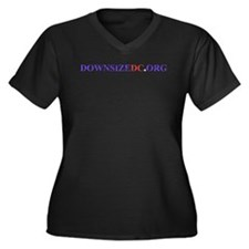 Cute Political romney Women's Plus Size V-Neck Dark T-Shirt