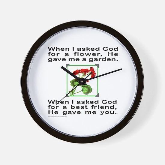 GOD GAVE ME YOU Wall Clock