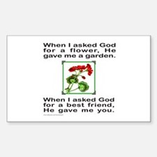 GOD GAVE ME YOU Rectangle Decal