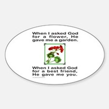 GOD GAVE ME YOU Oval Decal