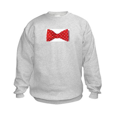 Red bowtie Kids Sweatshirt