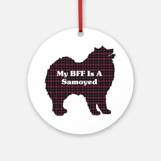 BFF Samoyed Ornament (Round)