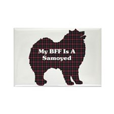 BFF Samoyed Rectangle Magnet (10 pack)