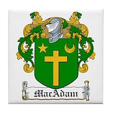 MacAdam Family Crest Tile Coaster