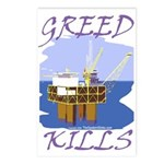 Greed Kills Postcards (Package of 8)