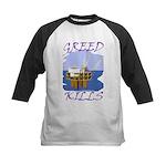 Greed Kills Kids Baseball Jersey