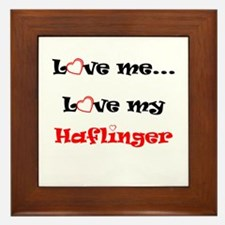 Love my Haflinger Framed Tile