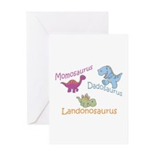 Mom, Dad & Landonosaurus Greeting Card