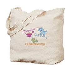 Mom, Dad & Landonosaurus Tote Bag