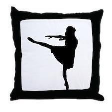 Ballet Girl Throw Pillow