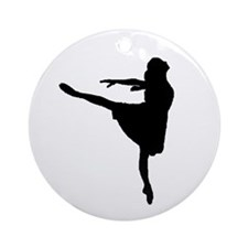 Ballet Girl Ornament (Round)