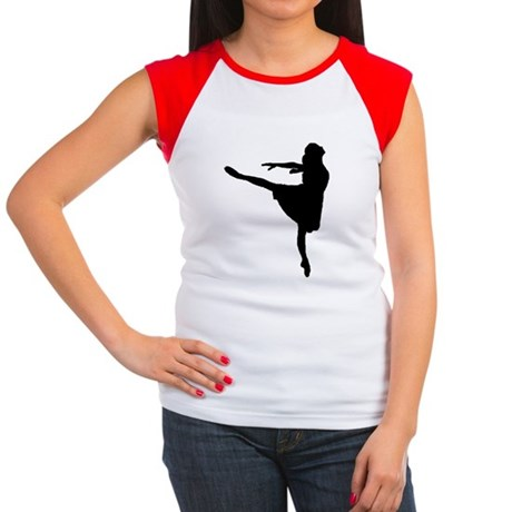 Ballet Girl Women's Cap Sleeve T-Shirt