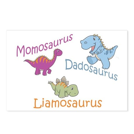 Mom, Dad & Liamosaurus Postcards (Package of 8)