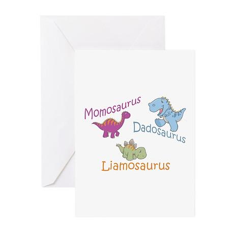 Mom, Dad & Liamosaurus Greeting Cards (Pk of 10)
