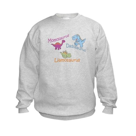 Mom, Dad & Liamosaurus Kids Sweatshirt