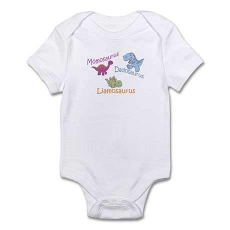 Mom, Dad & Liamosaurus Infant Bodysuit