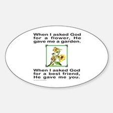 BFF GOD GAVE ME YOU Oval Decal