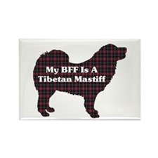 BFF Tibetan Mastiff Rectangle Magnet (100 pack)