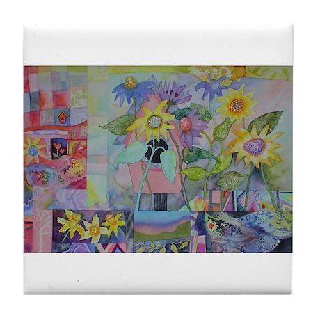 Tile Coaster with Birdhouse