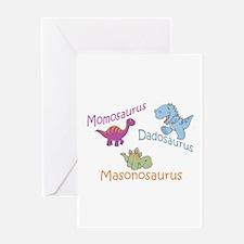 Mom, Dad & Masonosaurus Greeting Card