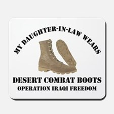 Daughter-in-law Combat Boots Mousepad