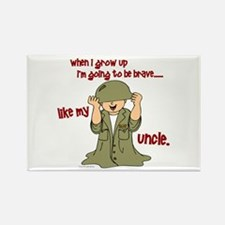 Brave Like My Uncle 1 Rectangle Magnet (10 pack)