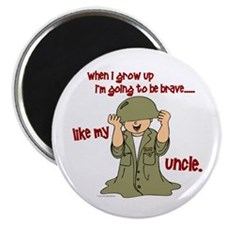 """Brave Like My Uncle 1 2.25"""" Magnet (10 pack)"""