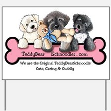Cute Schnoodle Yard Sign