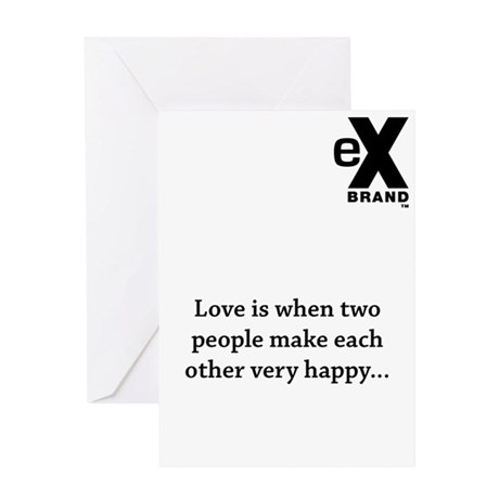 Love is when two people make each other very happy