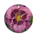 Macbeth Daylily Ornament (Round)