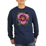 Macbeth Daylily Long Sleeve Dark T-Shirt