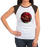 Night Embers Daylily Women's Cap Sleeve T-Shirt