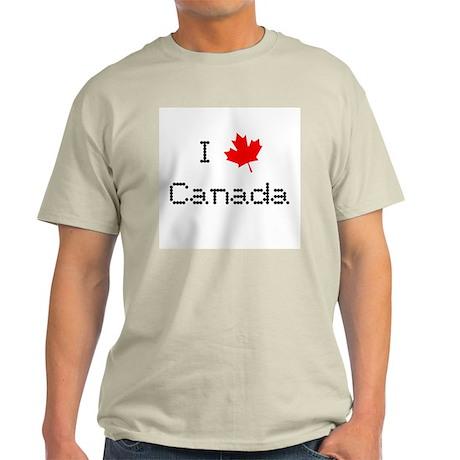 I Love Canada Light T-Shirt